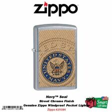 Zippo US Navy Seal Pocket Lighter, Street Chrome #29384