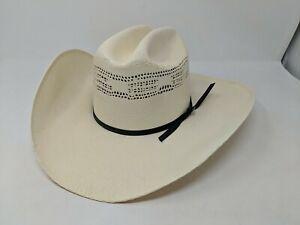 Resistol 10x Shantung Panama Straw Cowboy Western Hat Size 6 3/4 White