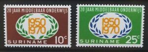 SURINAME 1970 Secondary Education.  Set of 2. Mint Never Hinged. SG670/671.