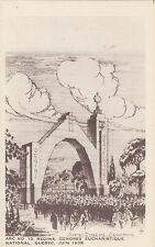 Esquisse Arc 10 de Regina Congrès Eucharistique QUEBEC Qc Canada 1938 Garneau