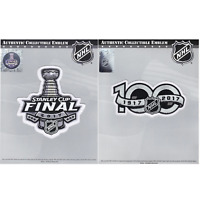 2017 Stanley Cup Final & NHL Hockey 100th Centennial Season Jersey Patch Combo