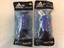 Adidas F50Pro Youth Jr S Soccer Shin Guards Hard Shield-Attached Sock-2 Sets