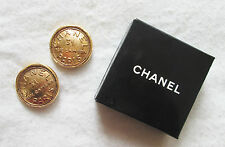 Superb CHANEL clip-on earrings Vintage VERY RARE