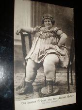 Old postcard huge woman Dicken Bella by Schmidt at Lubeck Germany c1900s