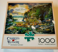 Charles Wysocki  Buffalo Games Puzzle 1000Pc Moonlight and Roses
