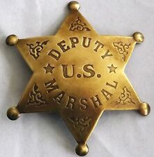 Deputy U.S. Marshal Replica Badge 6 Point Star Made USA Wyatt Earp Hickok PH412