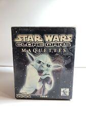 2004 Gentle Giant Star Wars Clone Wars Maquettes Animated Yoda Cartoon Network