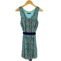 Portmans Womens Dress Size 10 Shift Dress Floral Gorgeous Design With Belt