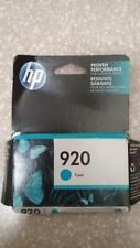 Hp 920 Cyan blue Ink Cartridge brand new Exp Feb 2020