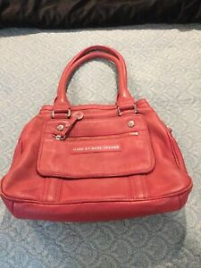 Marc By Marc Jacobs Light Coral Red Leather Shoulder Bag Purse