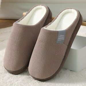 Solid slippers Winter shoes for men / women Warm slides inside cotton shoes