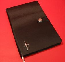 Ballerina A5 Black Note Book Journal Ballet Dance Teacher Christmas Gift