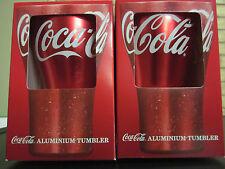 Coca-Cola Aluminium Tumbler X 2 Boxed