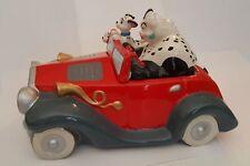 Disney 101 DALMATIONS Cruella De Vil in car Ceramic Cookie Jar, RETIRED, RARE