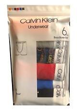 Calvin Klein Boys  Cotton Stretch Boxer Briefs 6 Pack, Large