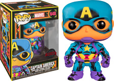 Captain America Marvel Black Light US Exclusive Pop! Vinyl FUNKO FREE PROTECTOR