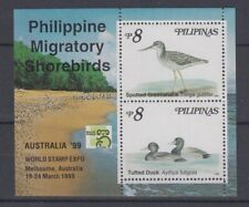 Philippine Stamps 1999 Migratory Shorebirds ss opvt Australia World Stamp Expo M