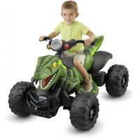 Power Wheels Jurassic World Dino Racer, Green Ride-On ATV for Kids New