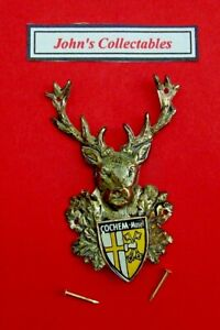 COLLECTABLE STAGS HEAD COCHEM MOSEL WALKING STICK BADGE  / MOUNT LOT5