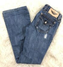 Twisted Heart Bootcut Jeans Rhinestone Detail 27 Distressed