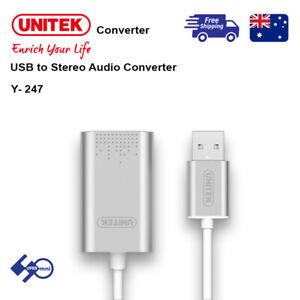 Unitek: Y-247 USB to Stereo Audio Converter
