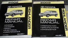 2002 TOYOTA HIGHLANDER Service Shop Repair Manual Set FACTORY Brand NEW