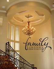 FAMILY BRIDGE TO FUTURE  WALL QUOTE DECAL VINYL WORDS
