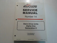 1997 MerCruiser # 14 Stern Drive Units Alpha One Service Manual 90-818177--1 796