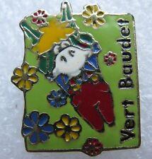 Pin's VERT BAUDET Animal Petit Ane avec des fleurs #A2
