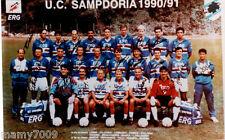 FOTOGRAFIA/CARTOLINA=SAMPDORIA 1990/91 =CM 15X10