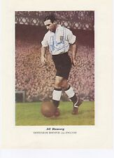 ALF RAMSEY ENGLAND 1948-53 WORLD CUP WINNER 1966 RARE ORIG SIGNED ANNUAL CUTTING