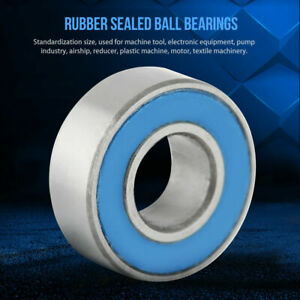 25Pcs 5x11x4mm MR115-2RS 5*11*4mm Rubber Sealed Ball Bearing Bearings Blue