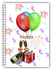 A5 WIRE BOUND WEDDING ANNIVERSARY NOTEBOOKS/NOTES GIFT/ LINED PAPER/ 02
