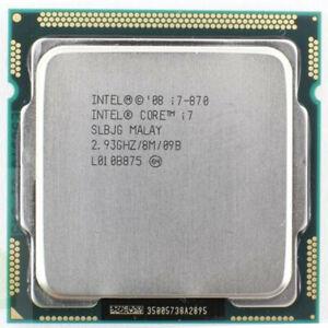 Intel Core i7 870 2.93GHz SLBJG 8M LGA 1156 CPU Processor