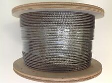 Marine Stainless Steel G316 3.2mm Wire Balustrade Cable Rope 7 x 7 Decking 305m
