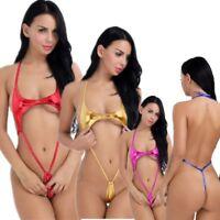 Women Sling Shot Micro Bikini Bodysuit Lingerie Monokini Teddy Bathing Swimwear