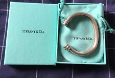 Tiffany & Co 1995 Atlas Groove Sterling Silver Cuff Bangle With Box & Pouch RARE