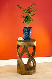 Table Solid Wood Side Table 50cm Stool Columns Night Table Living Room Table Neu