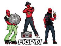 Figpin Mini Deadpool 50's/70's/80's Lot of 3