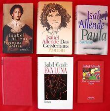 6 x Isabel Allende - nur gebundene Ausgaben - Hardcover Bücherpaket Sammlung