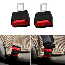 2pcs Universal Car Auto Safety Seat Belt Buckle Extension Alarm Stopper