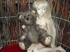 "98 hugfun jointed Barnabe bear 8 1/2"" BJD prop lovable friend NO DOLL INCLu"