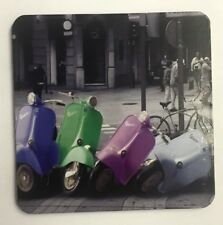 NEW CORK COASTER COLOURFUL FALLEN VESPA SCOOTERS PACKAGED