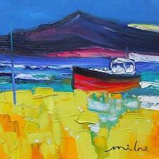 Superba Fraser Milne ORIGINALE dipinto ad Olio Scena Costiera - (Arte moderna scozzese)