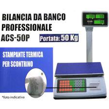 BILANCIA ELETTRONICA 5 Gr MAX 50Kg PROFESSIONALE SCONTRINO DISLAY DIGITALE