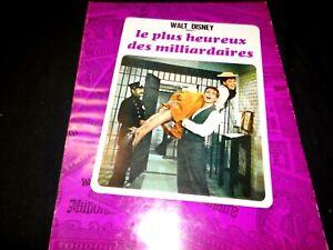 LE PLUS HEUREUX DES MILLIARDAIRES  MacMurray dossier presse cinema disney 1967
