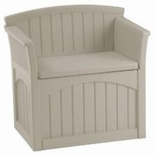 31 gal. patio storage seat | suncast resin outdoor bench gallon waterproof deck