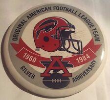 "Vintage 1984 Buffalo Bills AFL 25th Anniversary 3"" Pinback Button NFL"