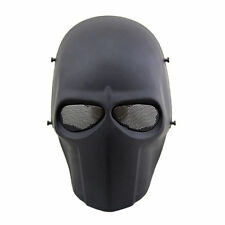 Skull Black Airsoft Mask Full Face Army of Two Paintball BB Gun Protective Gear