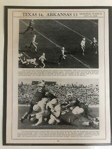 "1939 TEXAS LONGHORNS vs. ARKANSAS RAZORBACKS 11x14"" Football Poster - 10/21/39"